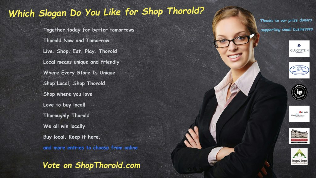 slogan contest list shop Thorold